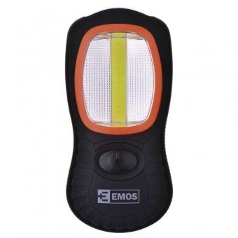 Rankinis žibintuvėlis 3 W COB LED + 3× LED 5 mm