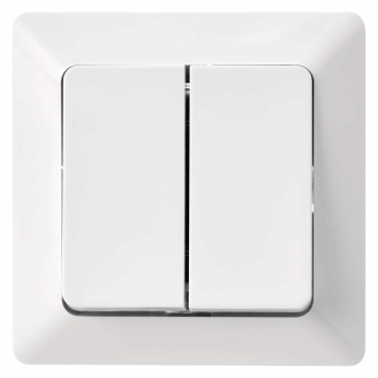 Double two-way switch EMOS (white)