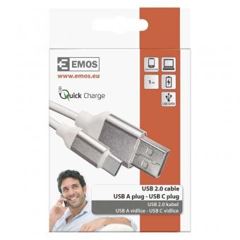 Laidas EMOS A-C USB 1m
