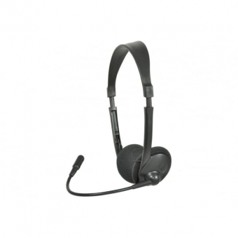 Ausinės MH30 su mikrofonu juodos