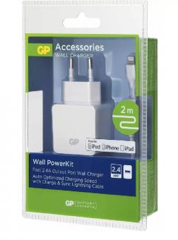 Tinklo adapteris SMART 1xUSB 2.4A 100-240V+laidas
