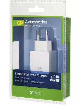 Power adaptor SMART 1xUSB 2.4A 100-240V