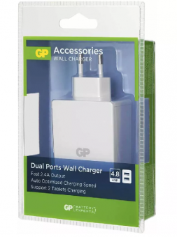 Tinklo adapteris SMART 2xUSB 2.4A 100-240V