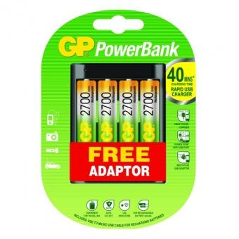 Baterijų įkroviklis GP 4xAA 2700