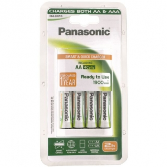 Battery charger Panasonic 4 x AA 1900 mAh