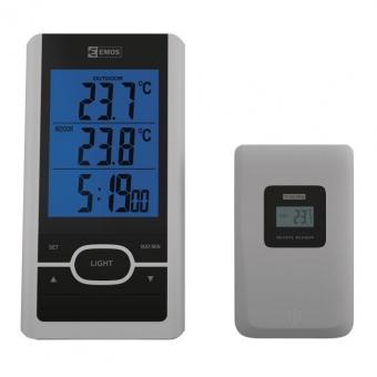 Bevielis skaitmeninis termometras su laikrodžiu
