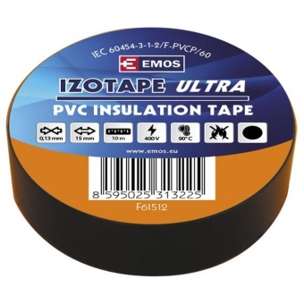 PVC. insulation tape Izotape Ultra 15/10 (black)