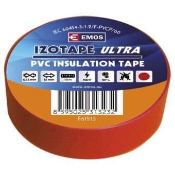 PVC. izoliacinė juosta Izotape Ultra 15/10 (raudona)