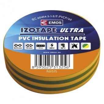 PVC. izoliacinė juosta Izotape Ultra 15/10 (žalia/geltona)