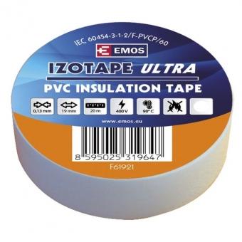 PVC. izoliacinė juosta Izotape Ultra 19/20 (balta)