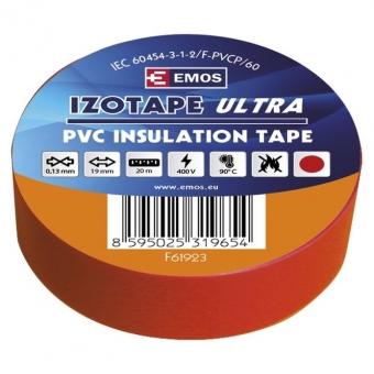 PVC. izoliacinė juosta Izotape Ultra 19/20 (raudona)