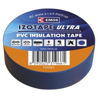 PVC. izoliacinė juosta Izotape Ultra 19/20 (mėlyna)