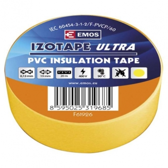 PVC. izoliacinė juosta Izotape Ultra 19/20 (geltona)