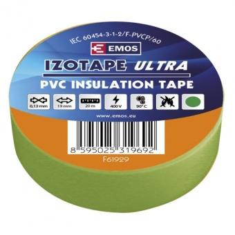 PVC. izoliacinė juosta Izotape Ultra 19/20 (žalia)