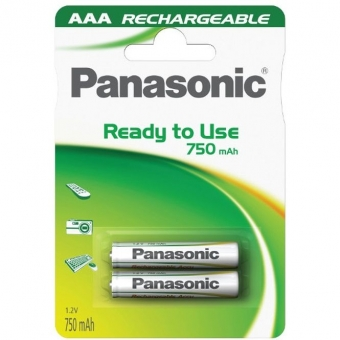 Akum. Panasonic Ready to Use HR03 750 mAh (AAA)
