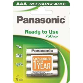 Akum. Panasonic Ready to Use HR03 750 mAh (AAA)