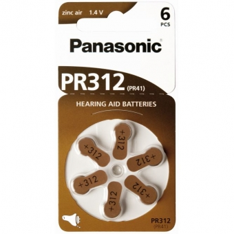 Panasonic Zinc-Air PR312H-LB