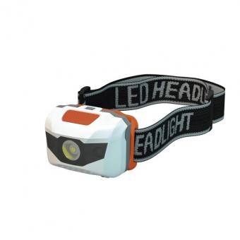 Žibint. ant galvos 1 W LED + 2 LED 3xAAA