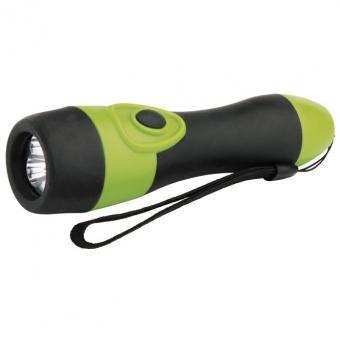 Rankinis žibintuvėlis 3 LED 2xAA (gumuotas)