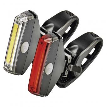 Priekinis ir galinis dviračio žibintai 1W COB LED