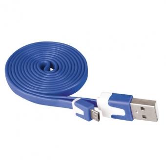 Laidas USB 2.0 A/M - micro B/M 1m (mėlynas)