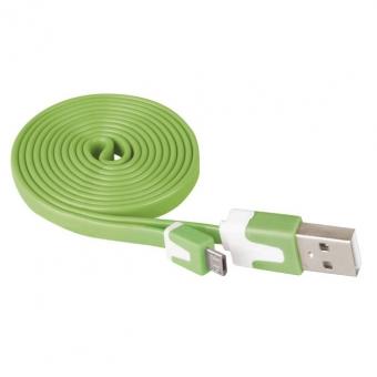 Laidas USB 2.0 A/M - micro B/M 1m (žalias)