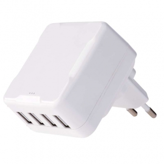 Tinklo adapteris SMART 4xUSB  6.8A 100-240V