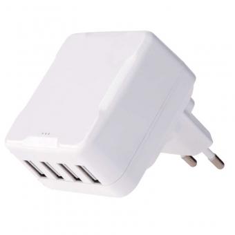 Tinklo adapteris SMART 4xUSB  6.8A 100-240V
