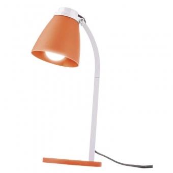 Led table lamp orange with LED bulb