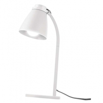 Led table lamp white with LED bulb