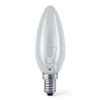 Kaitrinė lempa E14 40W, ISKRA žvakė pramon. naud.