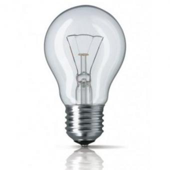 Kaitrinė lempa E27 100W, ISKRA skaidri pramon. naud.