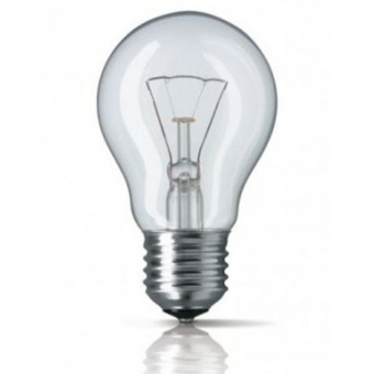 Incandescent light bulb E27 40W, ISKRA for industrial use
